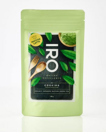 IRO organic japanese Matcha tea for Cooking 100g also ideal for Matcha Latte (front)